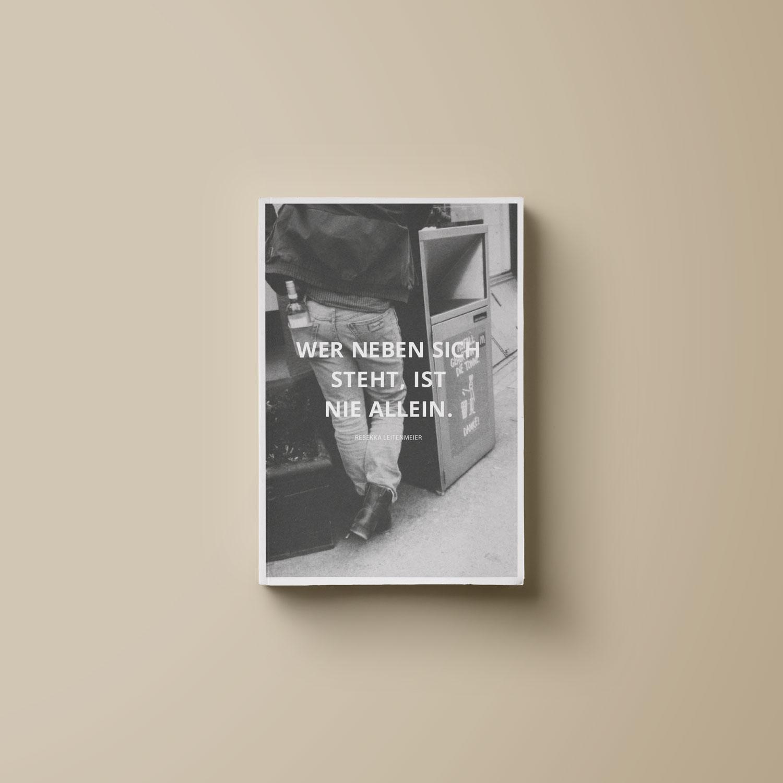 wer neben sich steht ist nie allein Buch cover